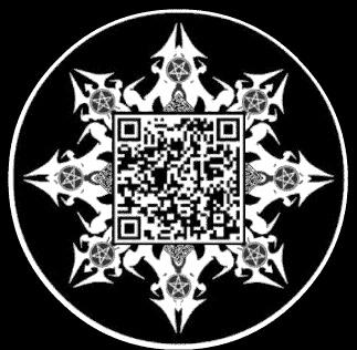 QR code gothique...