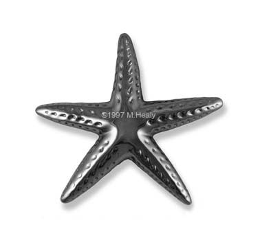 Michael Healy   Artistic Decorative Hardware :: Starfish Door Knocker By  Michael Healy Nickel Silver