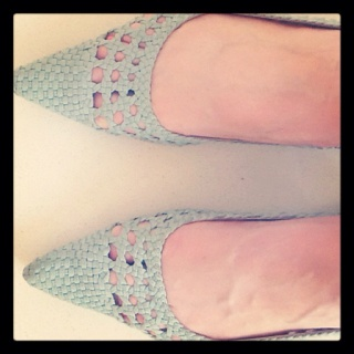 fashionrecycle: just rediscovered these minty woven flats. They are about 8 yrs old from @Witchery but bang on the pastel trend!