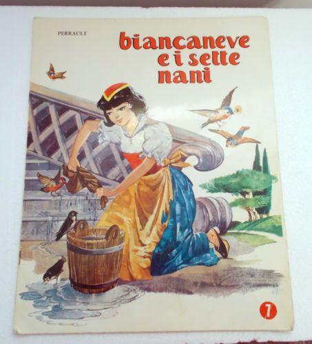 Perrault-Biancaneve-E-i-Sette-Nani-Fiaba-Per-Bambini-1966-Con-Disegni