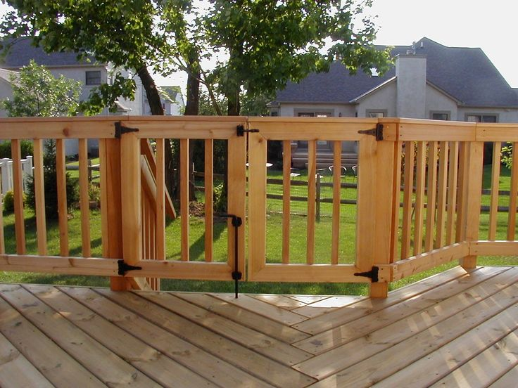 Beautiful For Extra Security U0026 Your Deck, Consider A Safety Gate Incorporated In To  The Rail Design. Safer For Young Children.