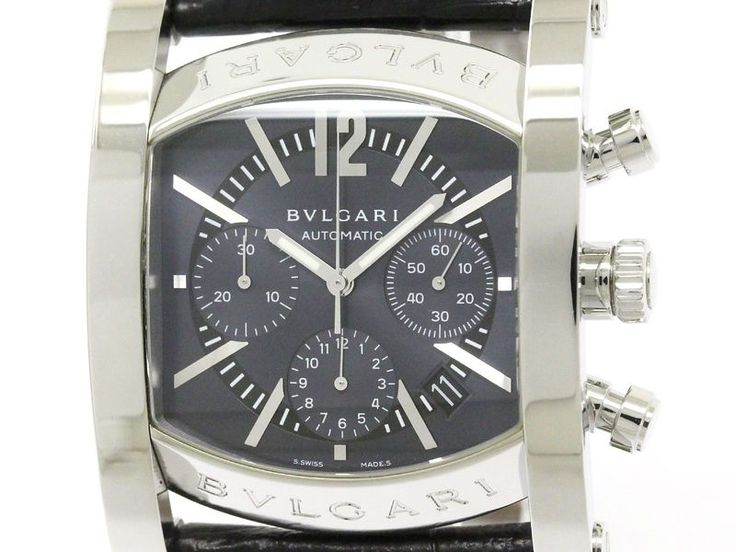 Polished #BVLGARI Assioma Steel Leather Automatic Mens Watch AA48SCH (BF113061) All of #eLADY's items are inspected carefully by expert authenticators who have years of experience. For more pre-owned luxury brand items, visit http://global.elady.com