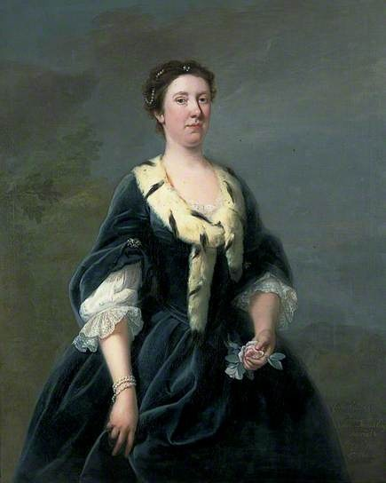 """Lady Oxenden, Daughter of Edmund Dunch, Esq., Married to Sir George Oxenden, 5th Bt"", attr. Andrea Soldi, ca. 1720; Canterbury City Council Museums and Galleries CANCM:1988.52.2"