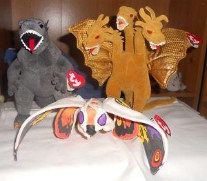 Godzilla Ghidora   Mothra Ty Beanie Babies Value  20 -     Available  eBay   9098aa2c4e01