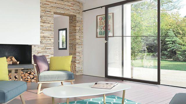 Baies vitrées pour maison contemporaine