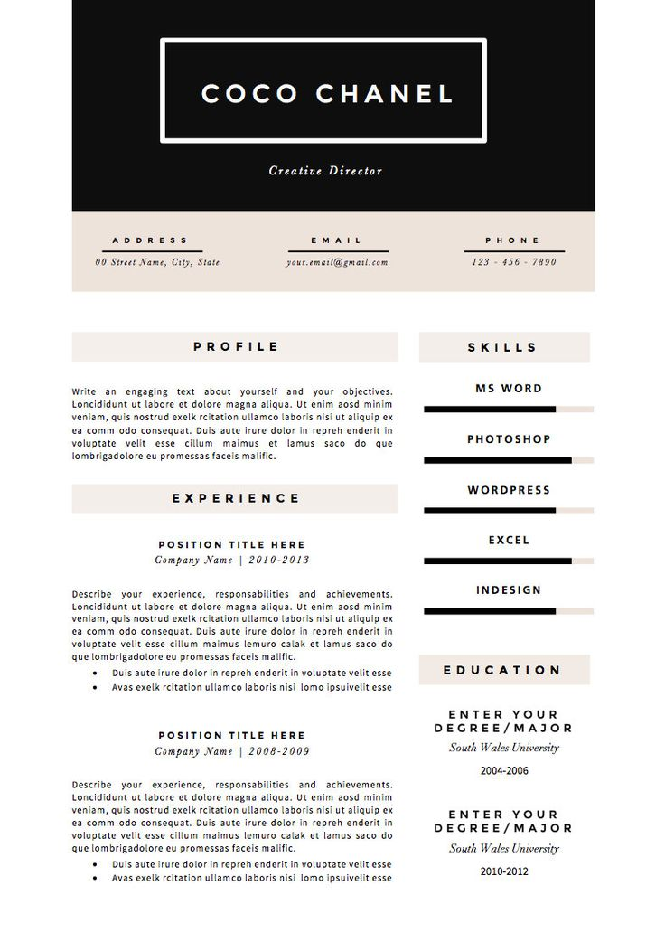 Best Mm M Images On   Creative Resume Resume