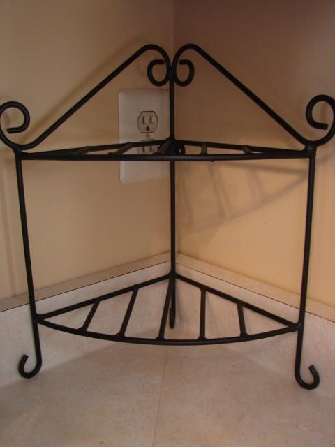 corner shelf google search wrought iron pretties. Black Bedroom Furniture Sets. Home Design Ideas