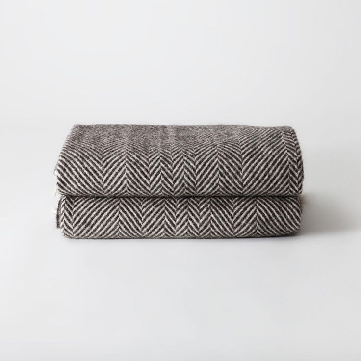 Chevron Blanket - Brown