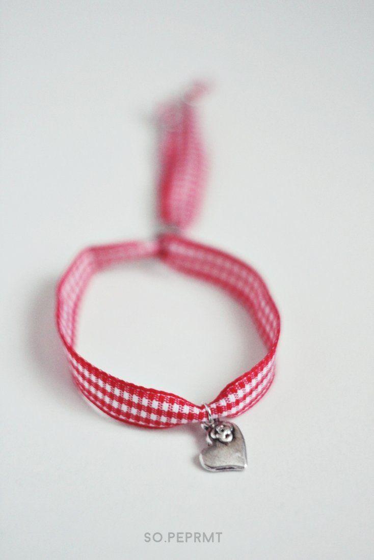 Sju - Heart (proj. sopeppermint), do kupienia w DecoBazaar.com #sopeppermint #sopeprmt #heart #bracelet
