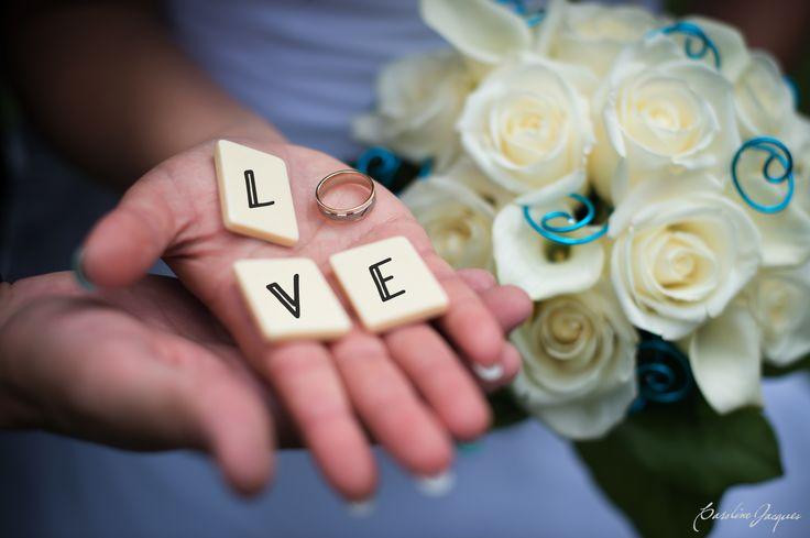 Photographie des anneaux de mariage #wedding #love