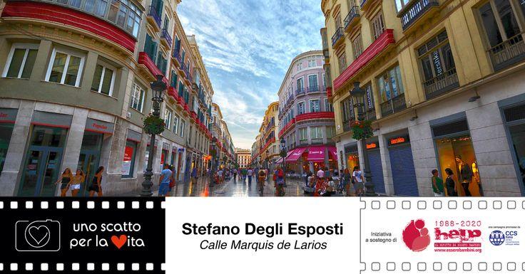 """""""Calle Marquis de Larios: uno dei viali pedonali principali di Màlaga, ripreso al tramonto"""". Stefano Degli Esposti per #unoscattoperlavita ▶▶▶▶ http://goo.gl/WCDEVS"""