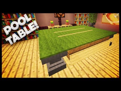 Minecraft - How To Build A Pool Table - http://pooltabletoday.com/minecraft-how-to-build-a-pool-table/