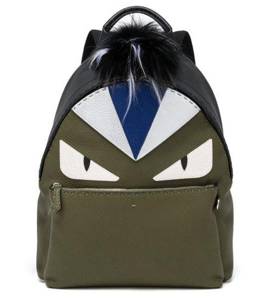 Fendi Monster Eye Leather Backpack Military         $269.00