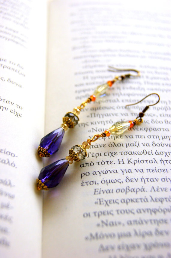 Retro handmade earrings by RenatasArt on Etsy, €15.00