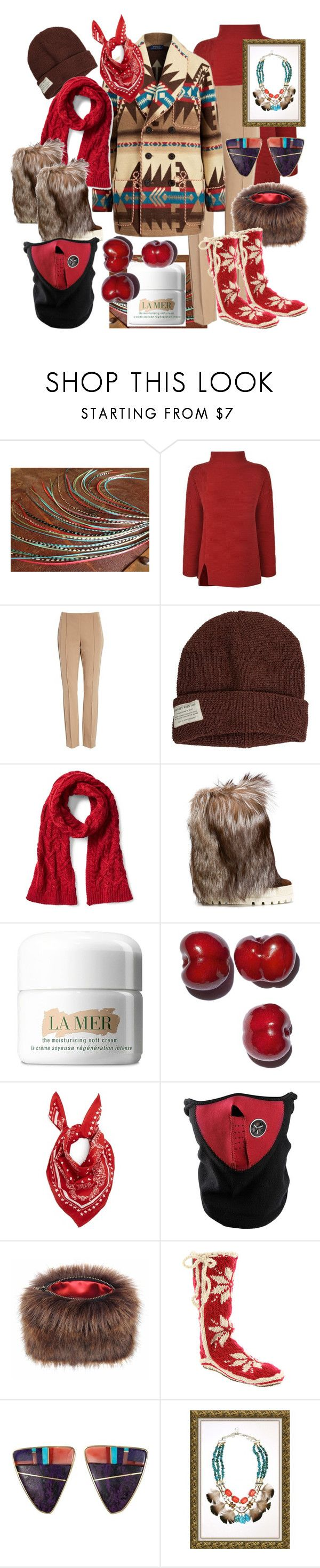 """Winter Accessories Colorado Style"" by cigoehring ❤ liked on Polyvore featuring French Connection, Lafayette 148 New York, Krochet Kids, Casadei, La Mer, Dolce&Gabbana, Helen Moore and Woolrich"