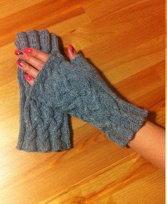 Вязаные перчатки без пальцев  Вязаные митенки от Warmsocksforhome