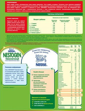 Nestogen (Nestlé) Низколактозный (с рождения) 350 г  — 284р. --- Молочная смесь Nestogen Низколактозный с рождения 350 г. Смесь Nestogen Низколактозный - это полноценная сухая смесь с низким содержанием лактозы. Смесь может применяться как единственный источник питания для детей с рождения в случаях лактазной недостаточности, а также после перенесенной диареи. Низкое содержание лактозы для коррекции лактазной недостаточности. Нуклеотиды для восстановления целостности слизистой кишечника…