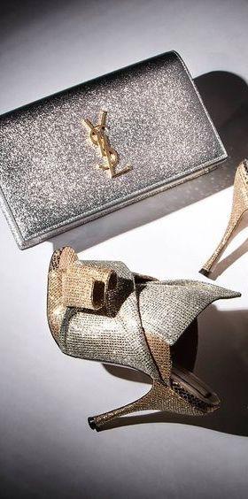 YSL #Luxury shoes and purse www.ScarlettAvery.com