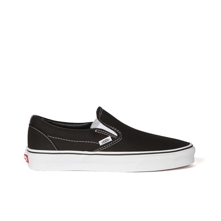 Vans Classic Slip-Ons Black. Shop Vans Sneakers for Men, Women and Kids Online @ Platypus Shoes. Free Shipping.