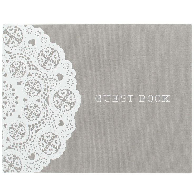 Grey Lace Guest Book, £12.75 www.paperchase.co.uk Glamour wedding theme