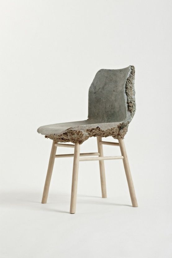 Well Proven Chair by James Shaw and Marjan van Aubel | waste wood and bio-resin