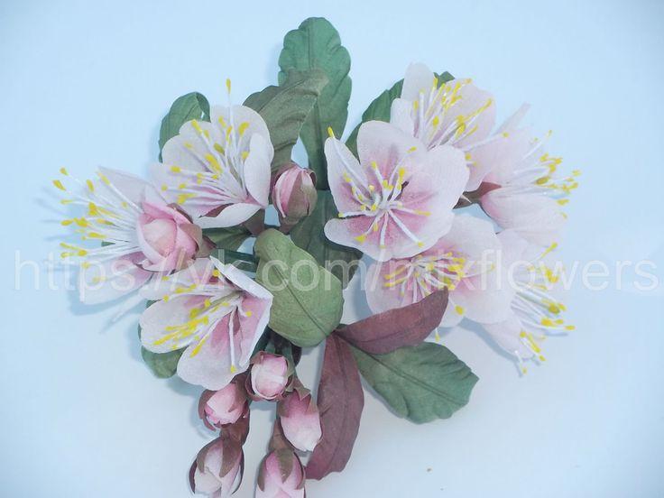 Silk Sakura. Hair decoration, brooch In Stock • $38 http://mix-flowers.ru
