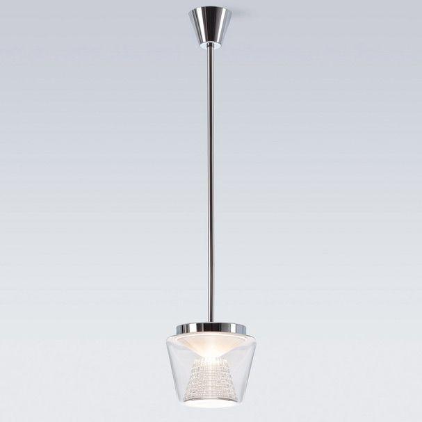 Versandkostenfrei bestellen: sehr elegante LED Pendelleuchte Annex Suspension mit Lampenschirm aus Klarglas und Kristallglas Reflektor. 2 Größen lieferbar.