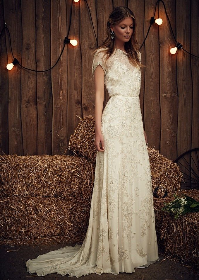 Wedding Dress with Long Train ~ Blossom by Jenny Packham