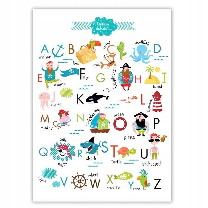 Alfabet Angielski Plakat Edukacyjny Format A4 Jolly Alphabet Turtle