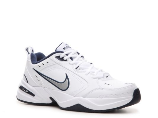 Men's Nike Air Monarch IV Training Shoe -  - White/Blue