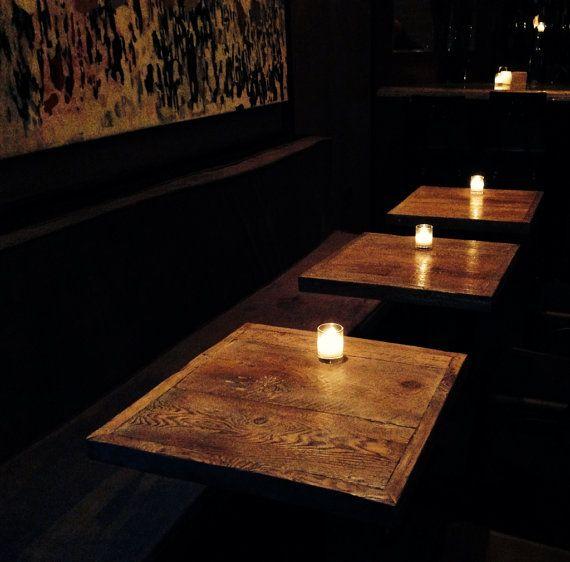 Amazing Reclaimed Wood Restaurant Table Tops 20 X 20 By FreshRestorations, $175.00