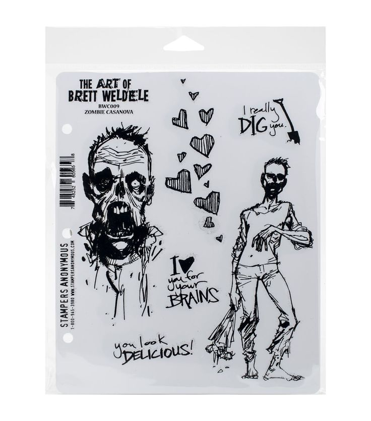 Simply adhere the Stampers Anonymous Brett Weldele Cling Rubber Stamp Set to any acrylic block and form well defined images on your scrapbook, greeting cards and letters. This pack contains a set of s