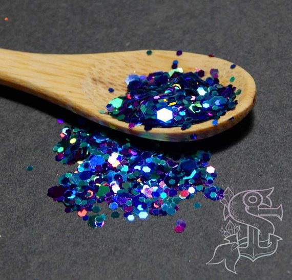 "Glitter mix ""Under the sea"" holographic solvent resistant glitter, nail art, UV resin,"