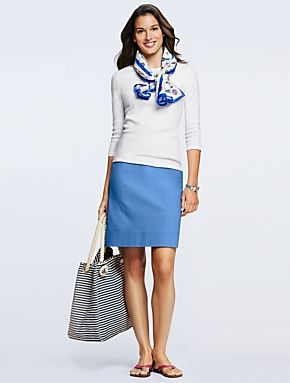 Stitch fix stylist- this whole outfit is completely my style.   Talbots - Canvas A-Line Skirt | Skirts | Misses