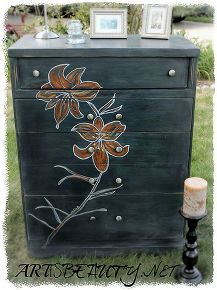 come see my dumpster dive turned dumpster diva rescued dresser in all her glory, home decor, painted furniture