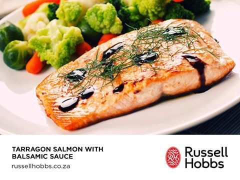 There is nothing fishy about how delicious and easy this Tarragon Salmon with Balsamic Sauce dish by #ChefMLK is to make.
