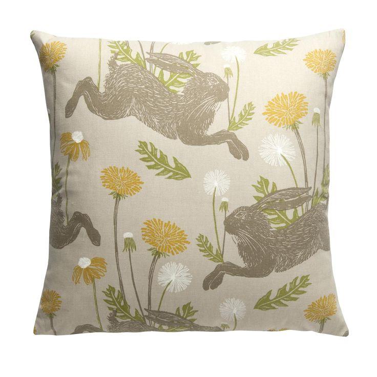"Fryetts Elephants Pink Grey Floral Cushion Cover 16/"" Shabby Chic"