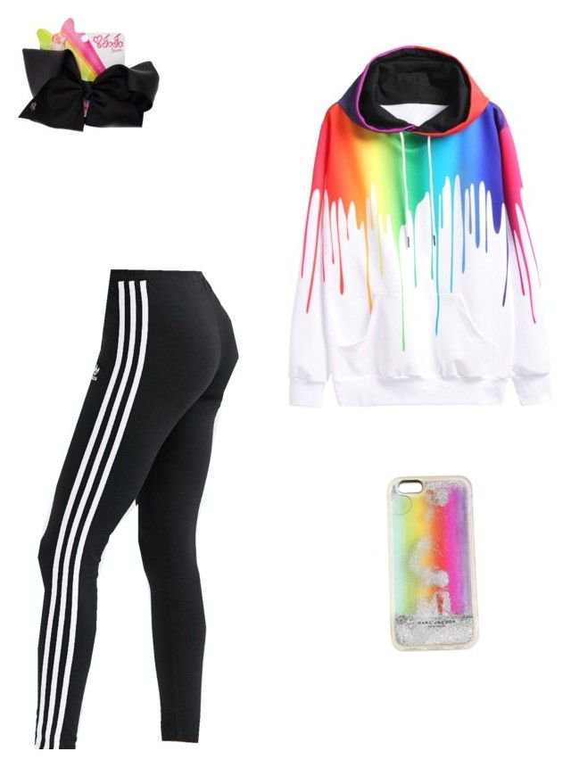 """""""Jojo Siwa inspired!!"""" by mkas06 on Polyvore featuring adidas, WithChic, Marc Jacobs and SIWA"""