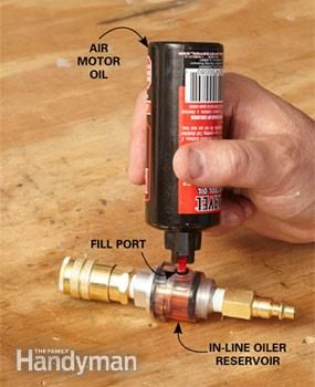 If you don't oil your air tools regularly they'll corrode and seize up. An in-line oiler ensures your air tools stay properly oiled.