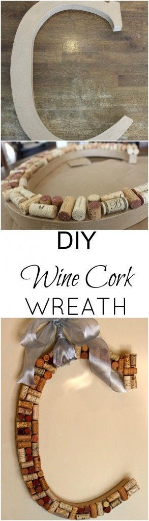 DIY Wine Cork Wreath - super easy craft and great Mother's Day gift! #mothersday #easycraft