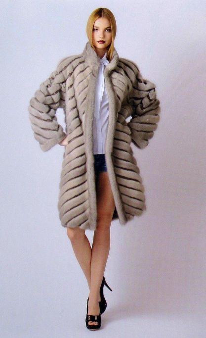 Dyed Mink Fur Coat