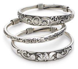 Lovely sterling silver bracelets from Wireless-$15.00 each.