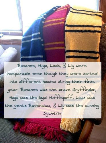 Roxanne, Hugo, Louis, & Lily were inseparable even though they were sorted into different houses during their first year. Roxanne was the brave Gryffindor, Hugo was the loyal Hufflepuff, Louis was the...