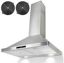"AKDY 30"" Wall Mount Ventless Range Hood 760 CFM - AWR3130S"