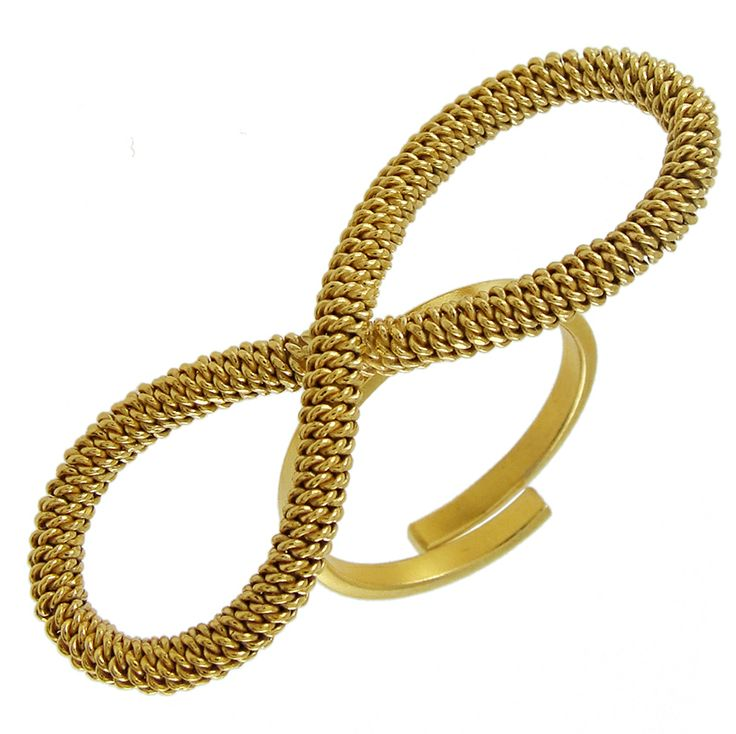 Emmanuela.gr - Handmade Jewelry - Rings :: Gold Plated Twisted Wire Ring