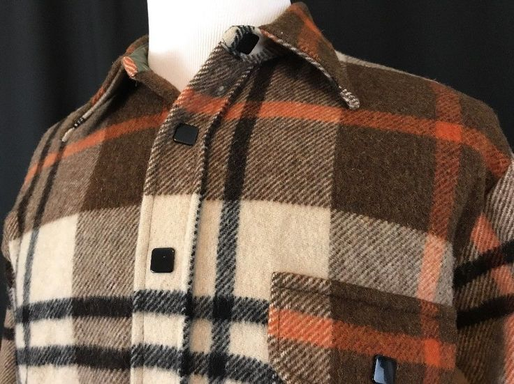 Vintage 60s MacGregor L Large Tartan Plaid Wool Square Snaps Jacket USA  | eBay