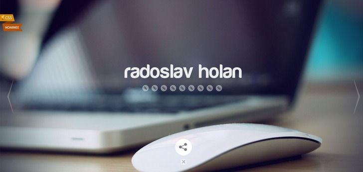 Radoslav Holan website has a Great Web Design | Best Web Designs