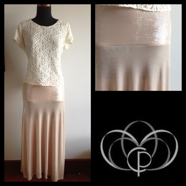 Lace shirt,  nice skirt