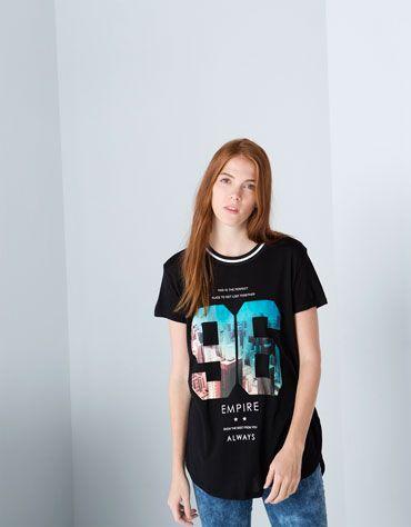 Bershka España -Camiseta Bershka mensaje