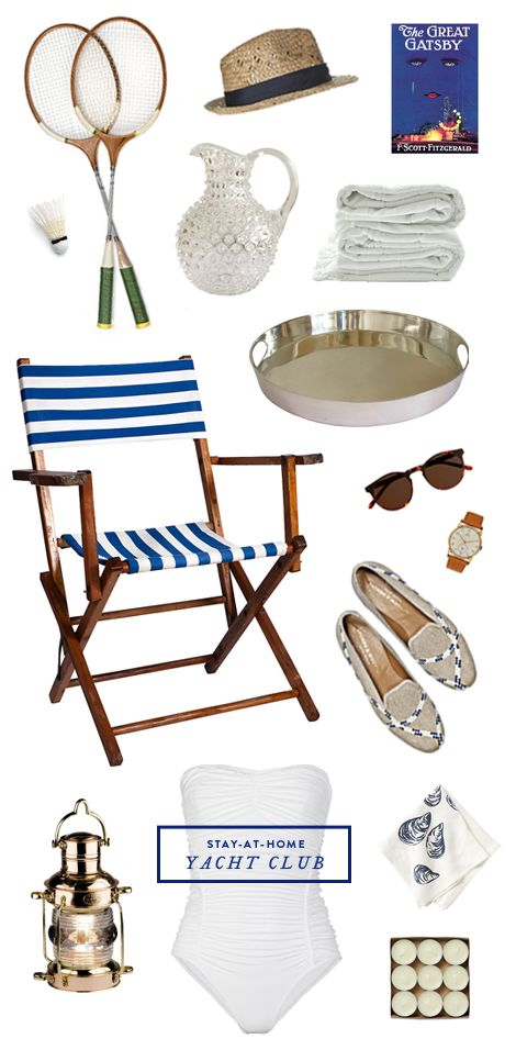Stay-at-home yacht club inspiration board from Note to Self